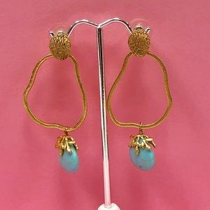 ZokyDoky Jewelry - Genuine Turquoise Dangle Earrings, NWT